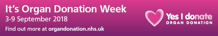 UK Organ Donation Week 2018 web banner