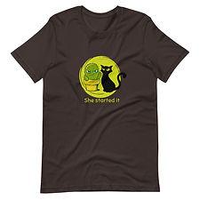 unisex-premium-t-shirt-brown-front-60942