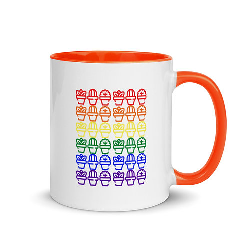 Succulent Flag Coffee Mug with Color Inside