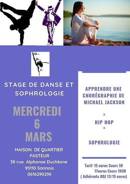 Stage danse sophrologie val d'oise Sannois Origine Danse Jazz