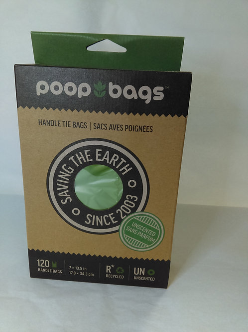 Poop Bags with Handles Unscented 120