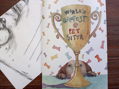 Greeting Card - Thank You for Petsitter
