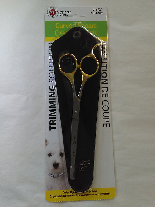 Miracle Care Curved Dog Grooming Shears 7 1/2""