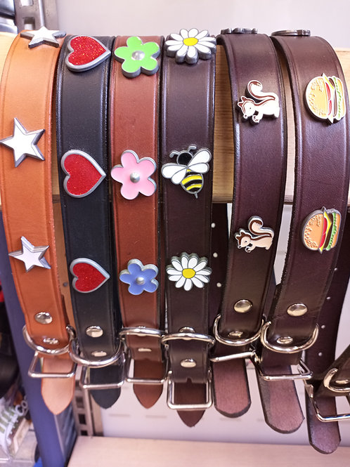 """Leather Collar 1"""" wide (fits 16""""-20"""" neck)"""