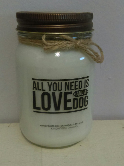 Candle - All you need is Love and a Dog