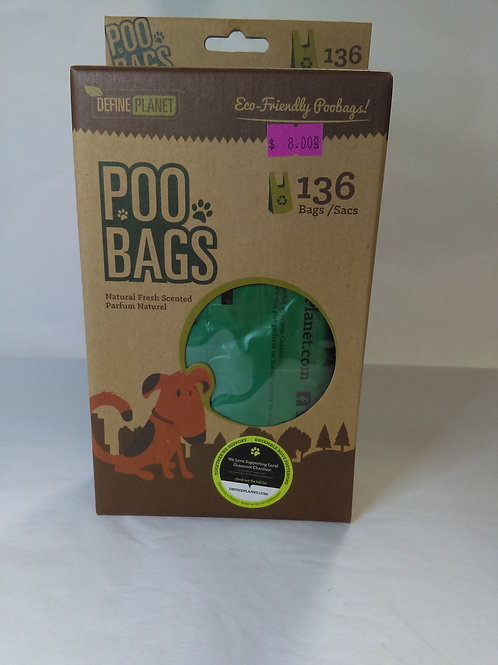 Poop Bags Define Planet Fres Scented with Handles 136