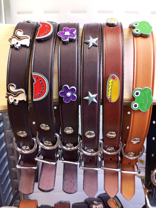 """Leather Collar 3/4"""" wide (fits 12""""-16"""""""" neck)"""