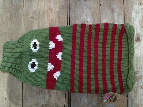 Chilly Dog Green Monster Sweater