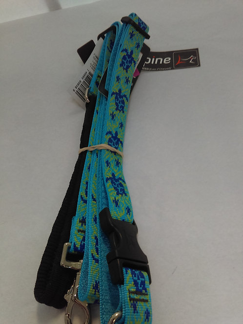 "Lupine Turtle Reef Collar (1""X25-31"") and Leash 4ft"