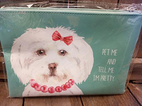 Cosmetic Bag - Pet Me And Tell Me I'm Pretty