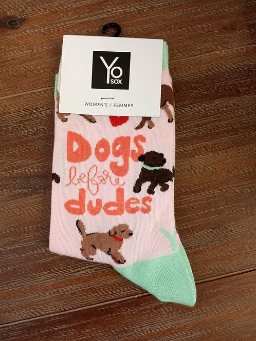 Women's socks- Dog's Before Dudes