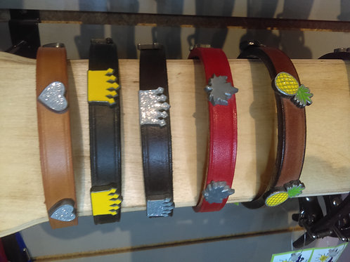 """Leather Collar 1/2"""" wide (fits 8.5""""-10.5"""" neck)"""
