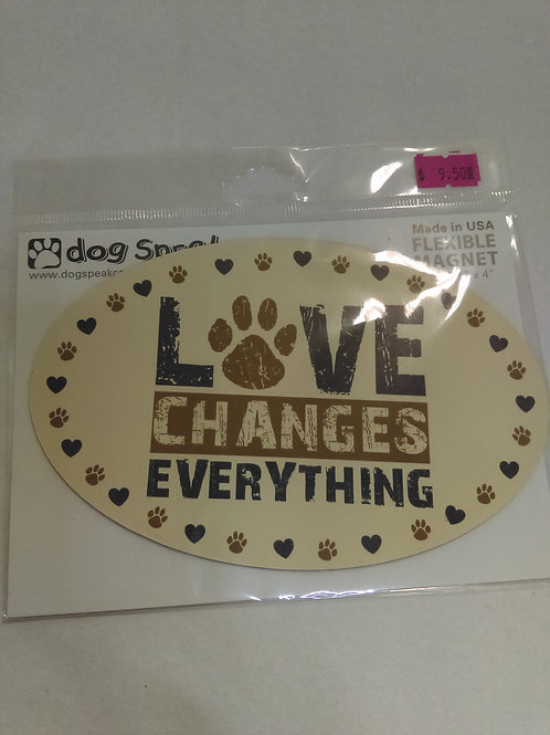 Car Magnet Love Changes Everything
