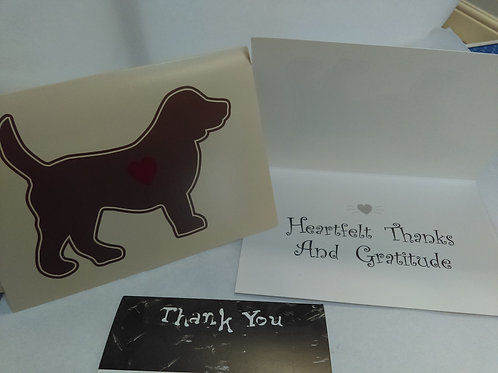 Greeting Card - Thank-you - Heartfelt Thanks and Gratitude