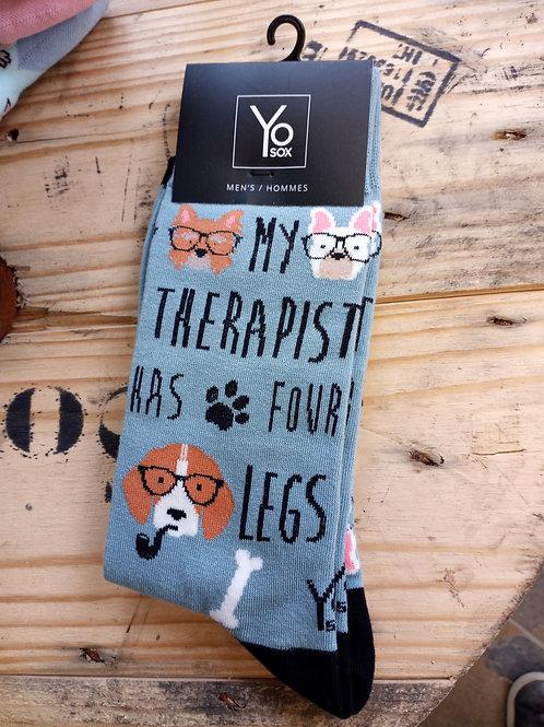 Men's Socks - Therapist has 4 Legs