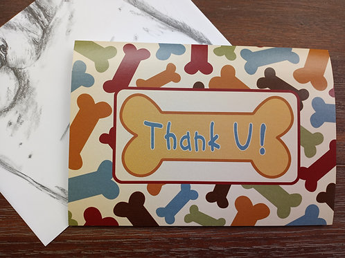 Greeting Card - Thank-you - Blank Inside