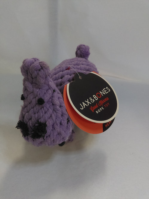 Hippo Rope Dog Toy by Jax and Bones