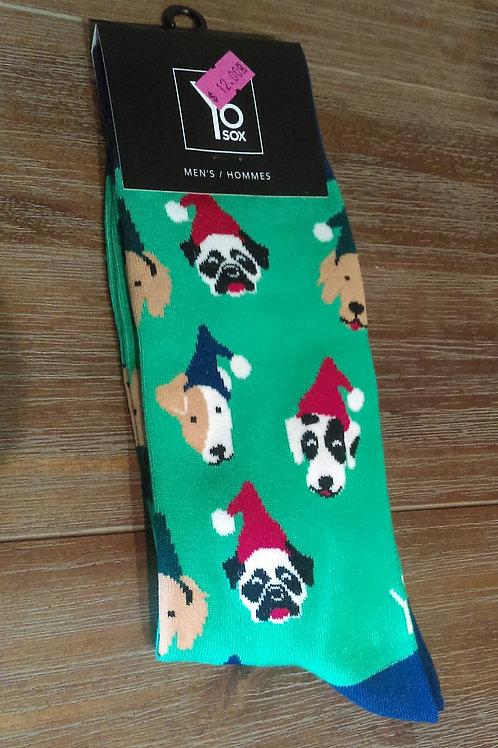 Yo Socks - Men's -Christmas Dogs