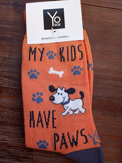Women's Sock - My Kids Have 4 Paws