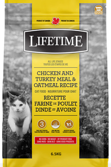 Lifetime Cat Food - Chicken, Turkey and Oatmeal 14.3lb