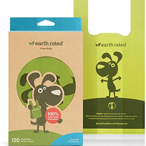 Earthrated Poop Bags with Handles Unscented 120