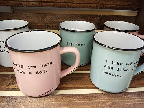 Lace and Twig Mugs