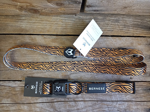Adjustable Dog Collar by Bernese - Tiger Pattern