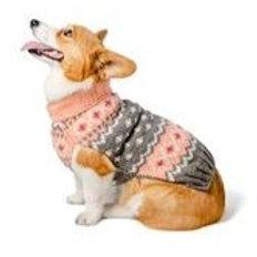 Chilly Dog Peach Fairisle Sweater