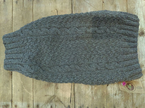 Chilly Dog Grey Cable Knit Sweater