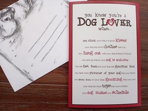 Greeting Card - Dog Lover (Blank Inside)