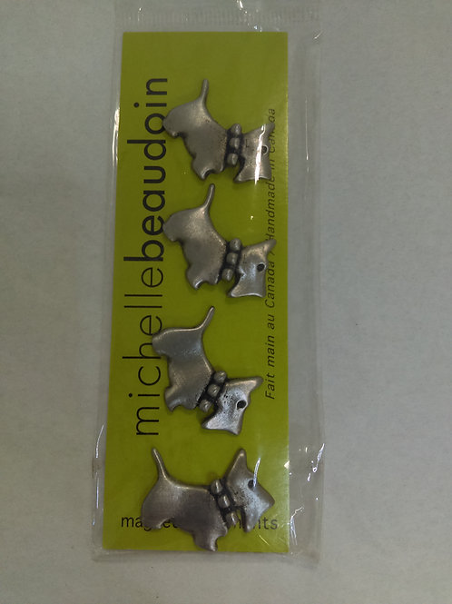 Michelle Beaudoin Scottie Dog Magnets