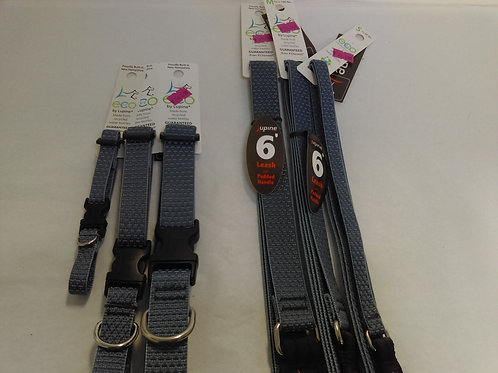 Lupine Eco Friendly Collars and Leash Mountain Lake Blue