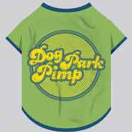 Yellow Hydrant Dog Park Pimp (Blue) Dog T-Shirt