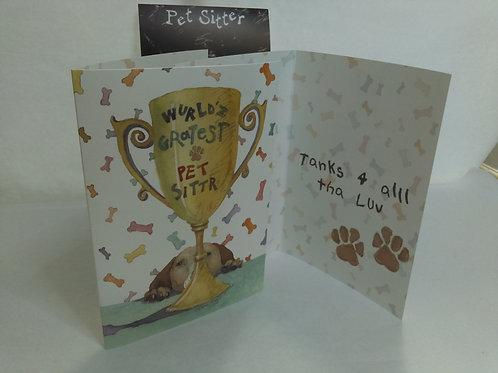 Greeting Card - for petsitter