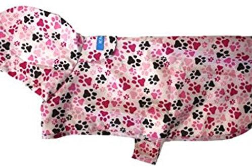 Rain Poncho Pink Pawprints