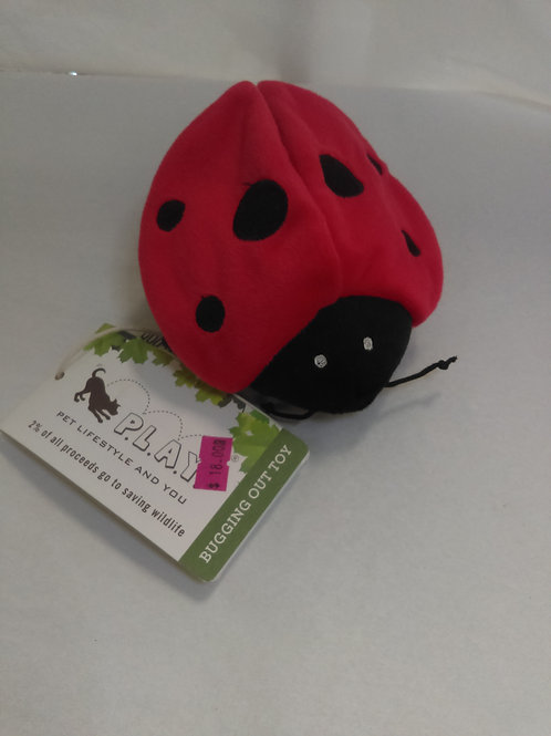 Ladybug Dog Toy by P.L.A.Y