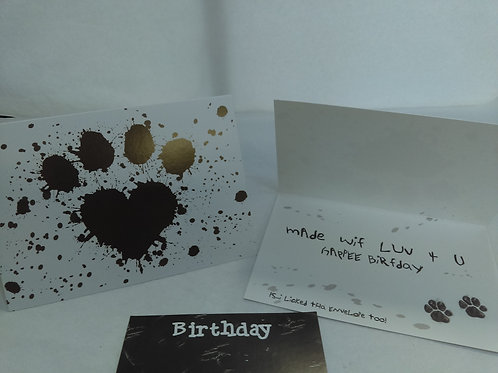 Greeting Card - Birthday - From the Dog