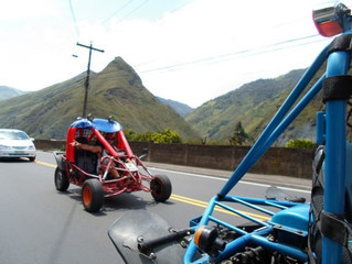Dune Buggy Day on the Route of the Waterfalls in Baños, Ecuador