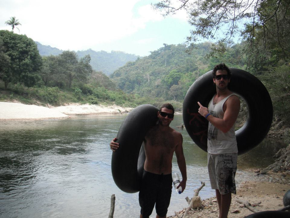Taylor and I about to depart on the river in Palomino, Colombia