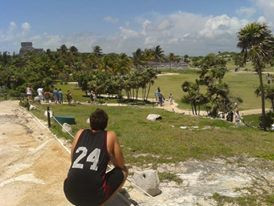 Ancient Tulum Mayan Ruins overlooking Tulum Beach, Mexico!