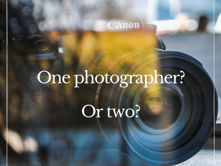 One photographer? Or two?