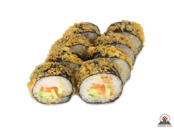 горячий ролл с лососем суши Запорожье доставка