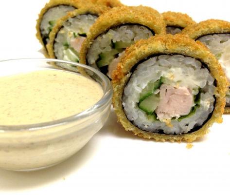 суши Запорожье теплые роллы с курицей