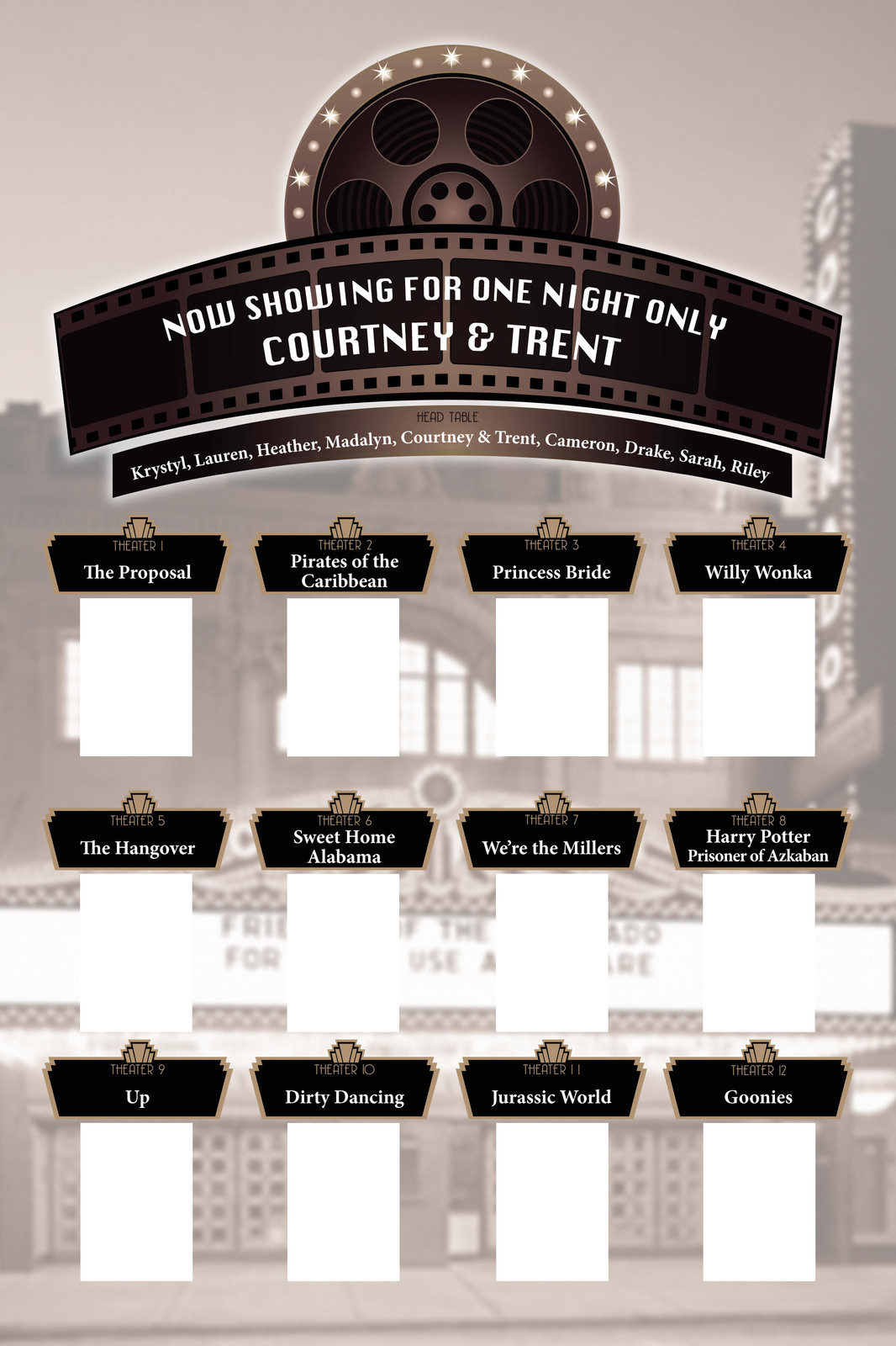Wedding Table Assignments Poster