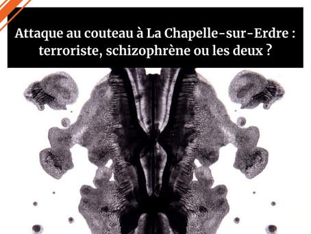 Attaque au couteau à La Chapelle-sur-Erdre: terroriste, schizophrèneou les deux ?