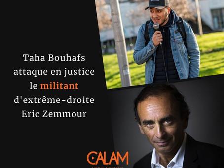 Le journaliste Taha Bouhafs attaque en justice le militant identitaire Eric Zemmour