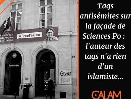 Tags antisémites sur la façade de Sciences Po :  l'auteur des tags n'a rien d'un islamiste...