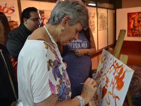 Teatro Más Pintura  Impro plástica con el público