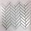 Thumbnail: White Satin Herringbone Mosaic