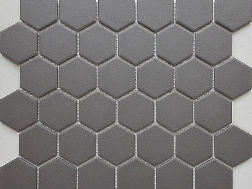 Charcoal Matt Hexagon 50mm